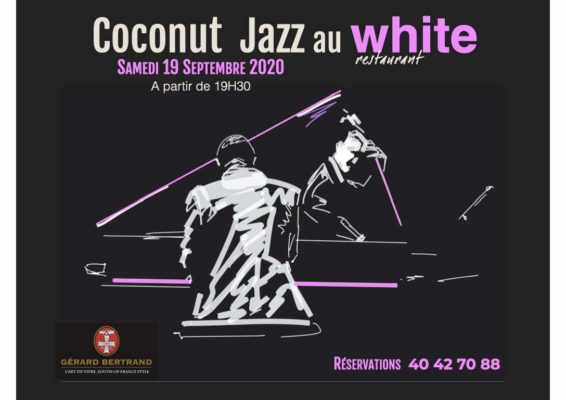 Evenement white restaurant tahiti coconut jazz